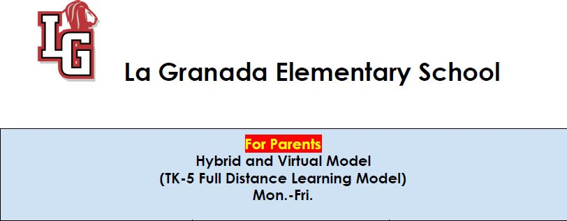 Hybrid and Virtual Model Schedule