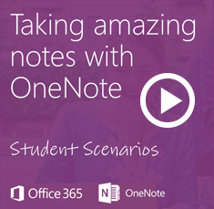 Click here to access video: Taking amazing notes with OneNote