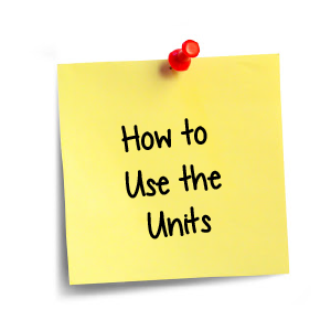 Click here to learn how to use the units
